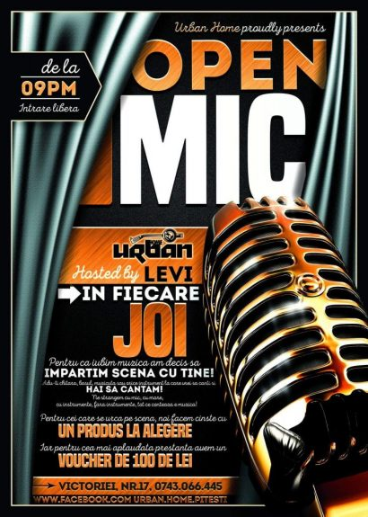 Open mic night cu Levi în Urban Home