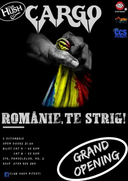 Grand Opening – Concert Cargo în Club Hush