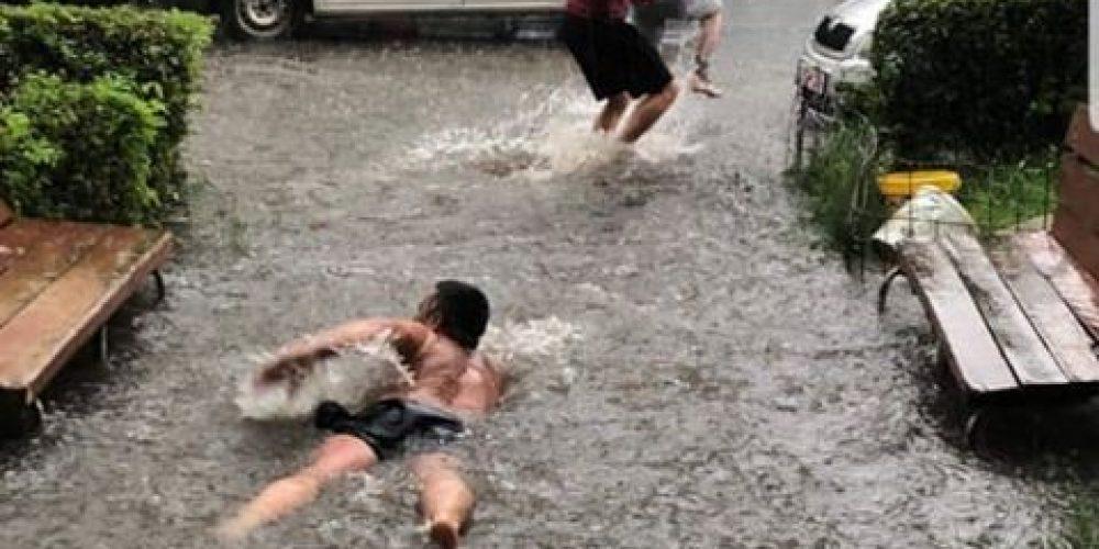 Cum să faci înot la scara blocului în Trivale!