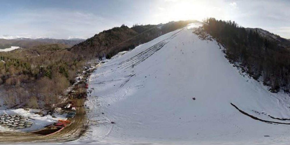 Praf în ochi cu pârtii de schi în Argeș